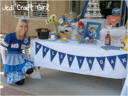 La Dodger Themed Bridal Shower