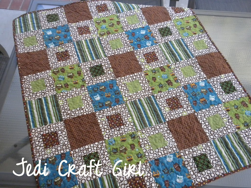 Square In A Square Baby Quilt Tutorial