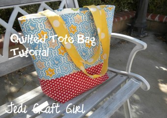 Quilted Tote Bag Tutorial