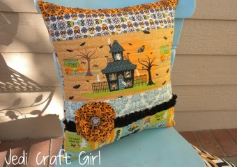 Quilted Halloween Pillow