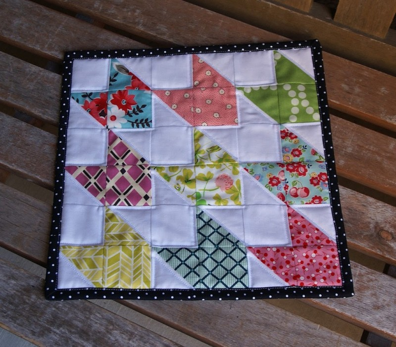Doll Quilt Patterns For Sewing: Chevron Doll Quilt Tutorial {Contributor}