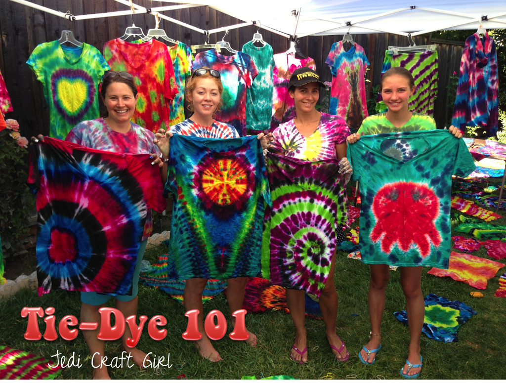 Tie dye 101 for 101 crazy crafting ideas