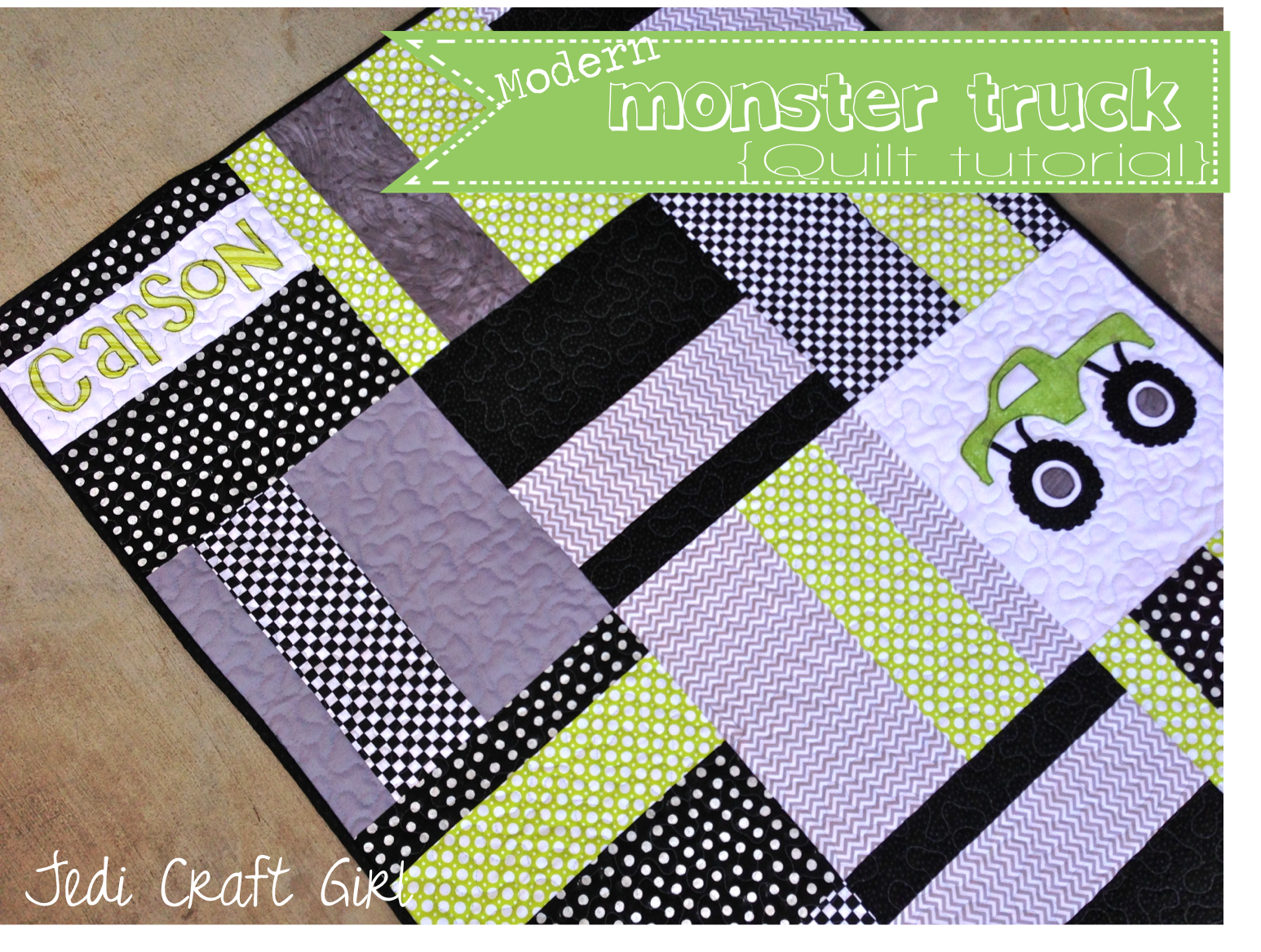 Monster Truck Baby Quilt : modern baby quilt patterns - Adamdwight.com