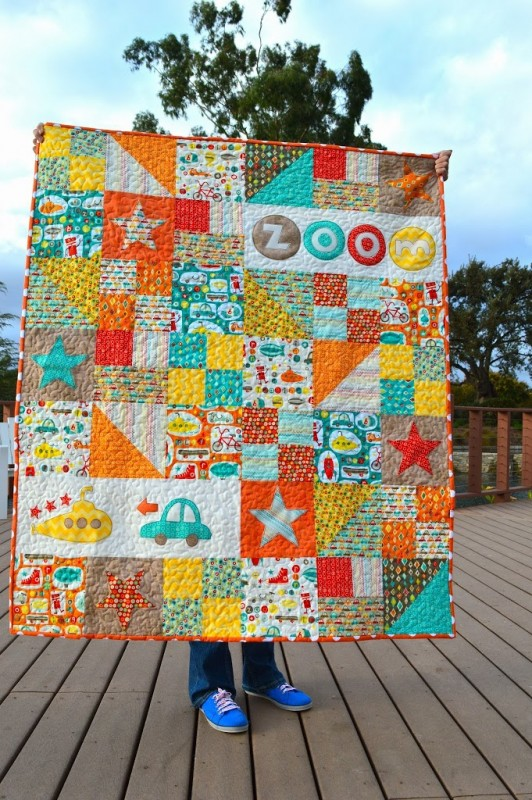 Totally Boy Crazy Baby Quilt