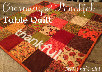 Charming & Thankful Holiday Table Quilt Tutorial
