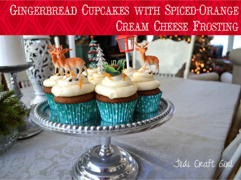 Gingerbread Cupcakes with Spiced-Orange Cream Cheese Frosting