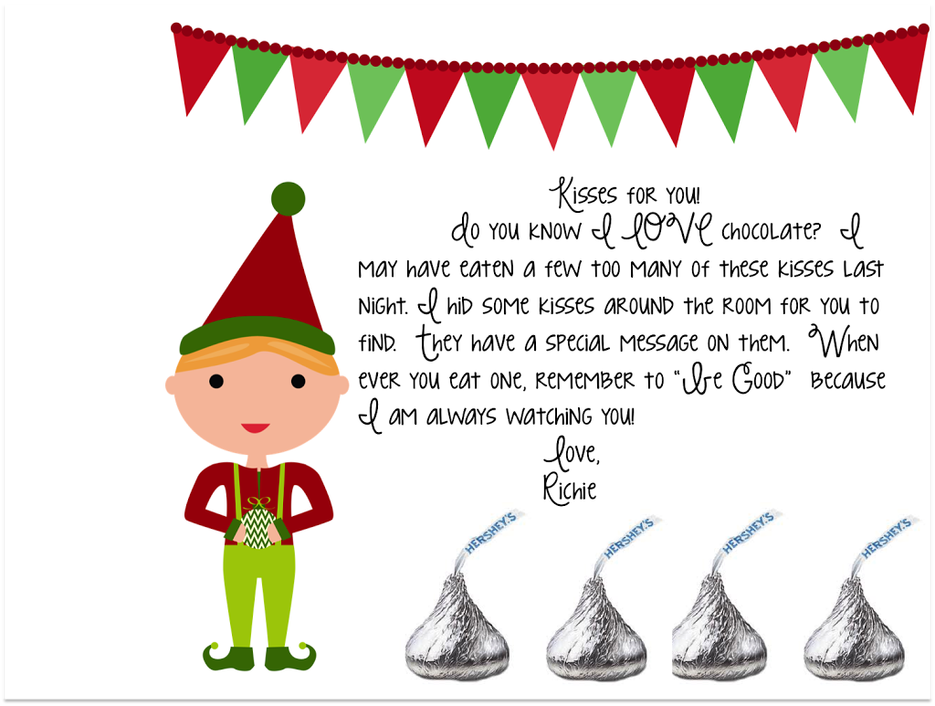 image regarding Elf Kisses Printable referred to as Elf upon the Shelf Conceal Seek out