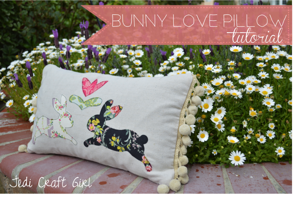 bunny love pillow