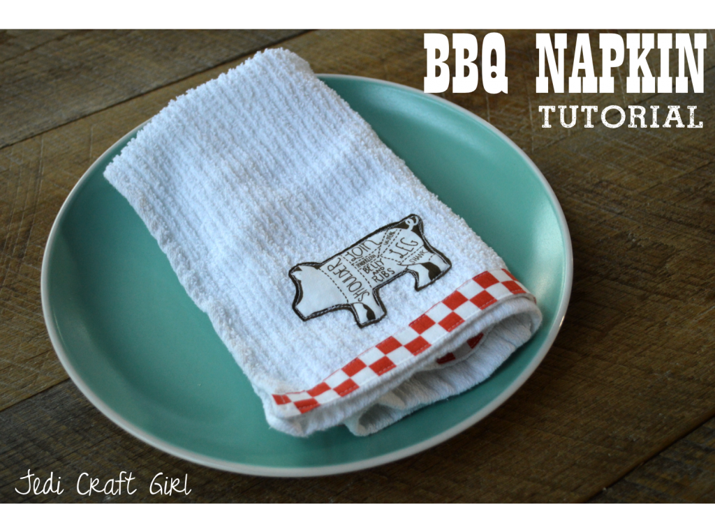 BBQ napkin tutorial