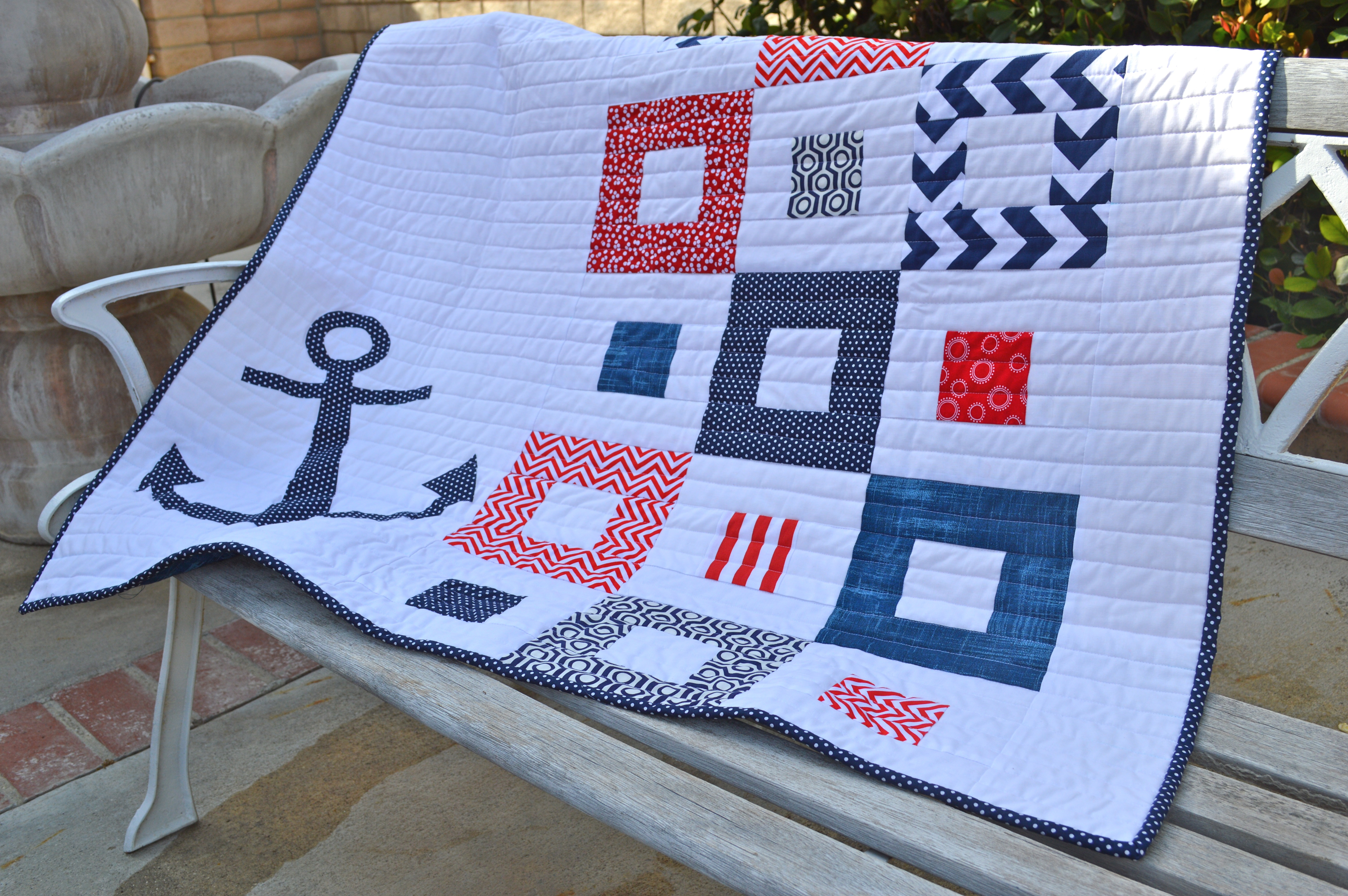 Nautical Baby Quilt : nautical quilts - Adamdwight.com