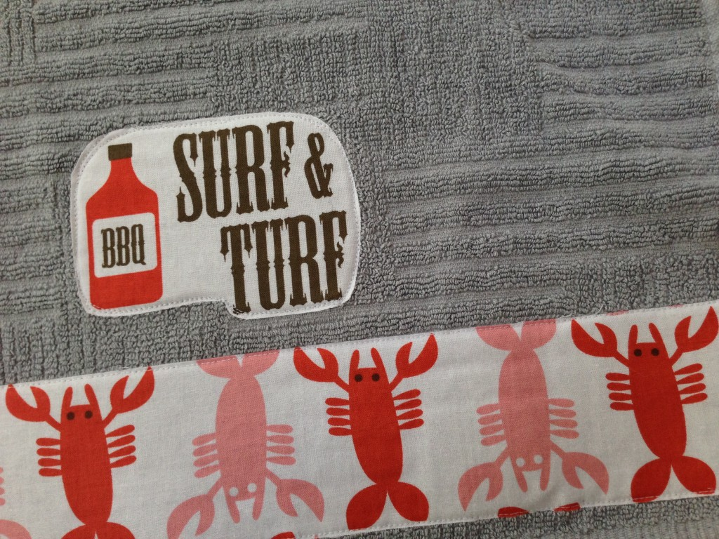 surf and turf bbq towel tutorial father's day_3
