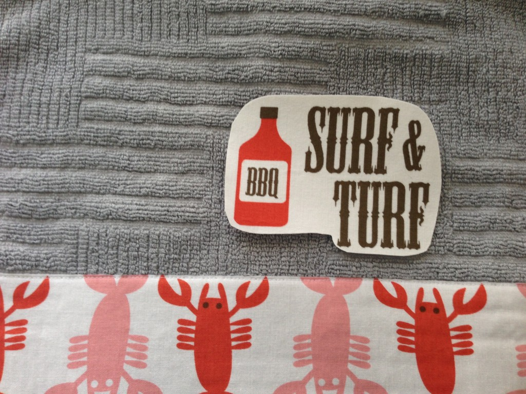 surf and turf bbq towel tutorial father's day_4