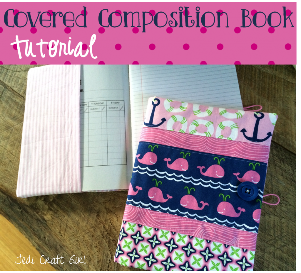 covered composition book tutorial whales