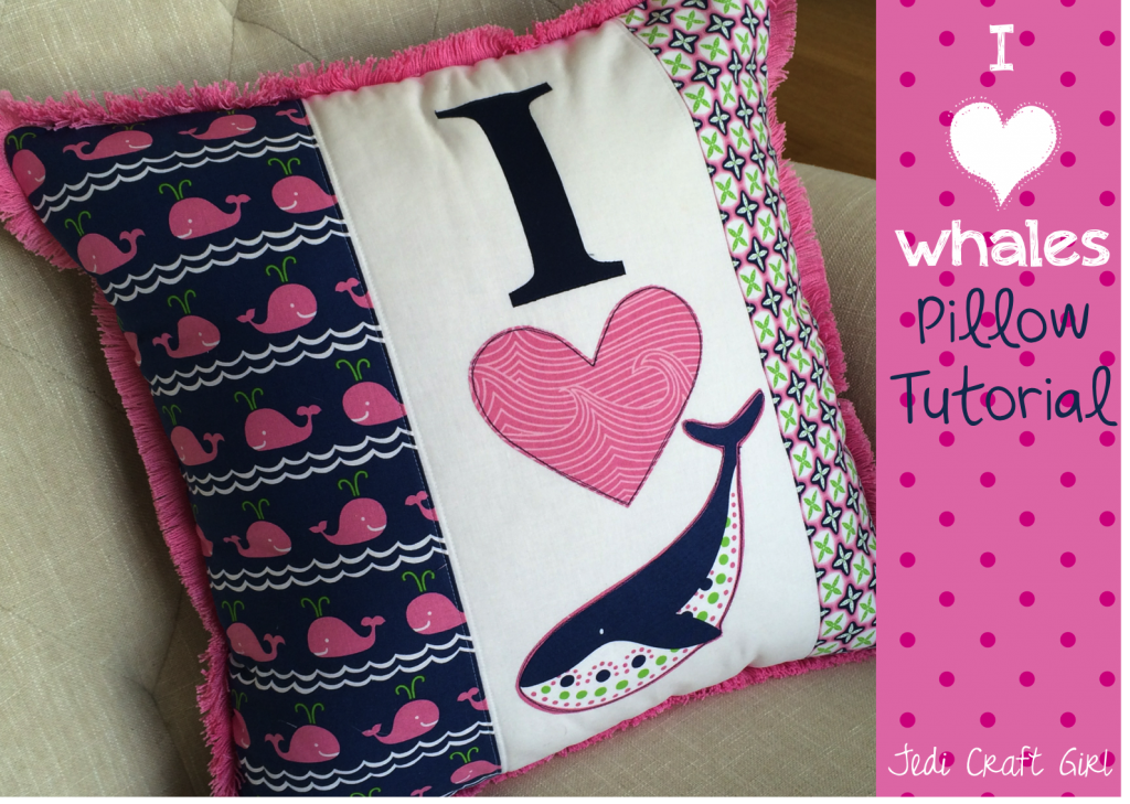 i love whales pillow tutorial