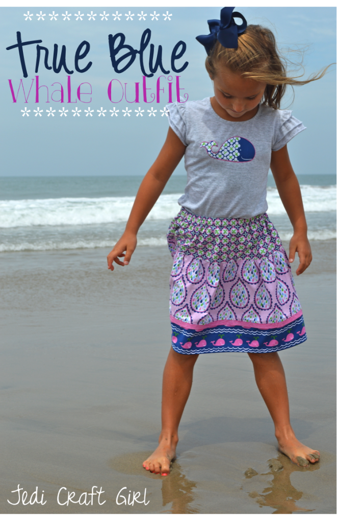 true blue blend fabric whale skirt