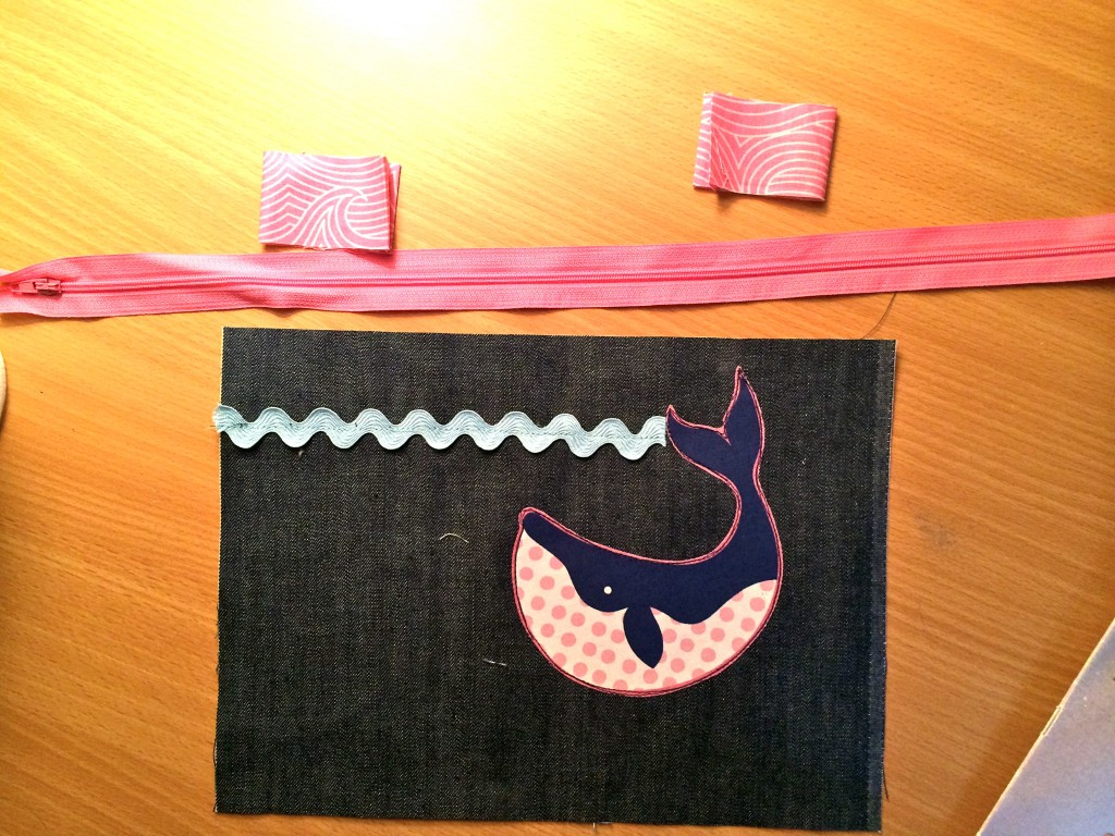whale ziper pouch tutorial