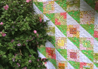 Stair Steps Quilt Pattern featuring Briar Rose