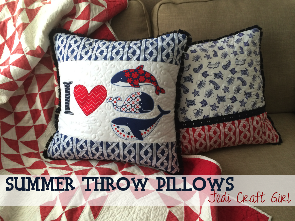 summer throw pillow tutorial