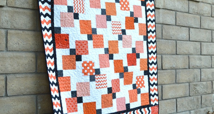 Halloween Disappearing 9-Patch Quilt