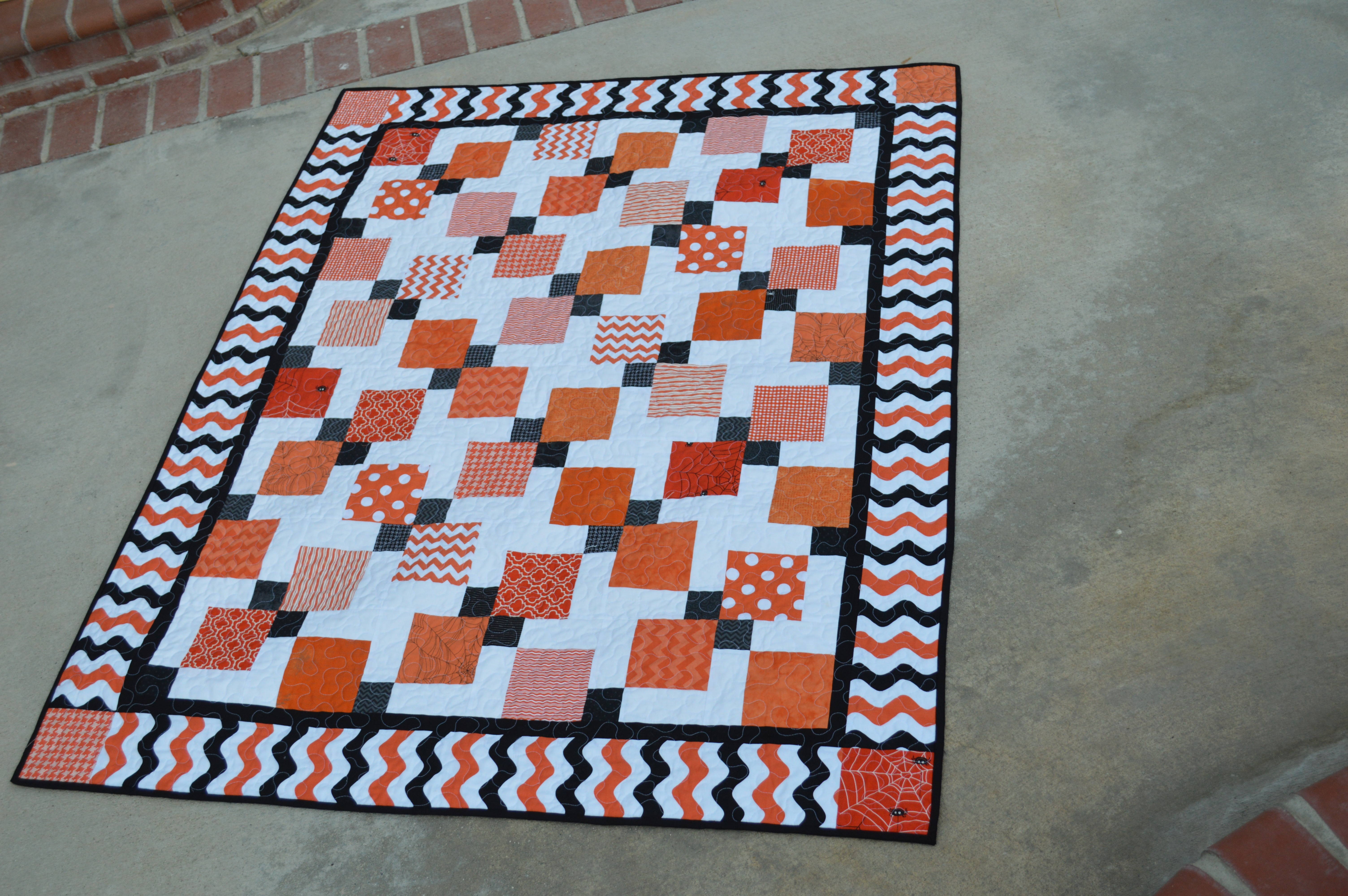 Halloween Disappearing 9-Patch Quilt : disappearing 9 patch quilt tutorial - Adamdwight.com