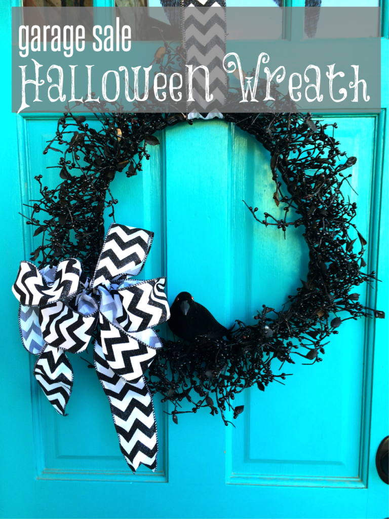 garage sale halloween wreath