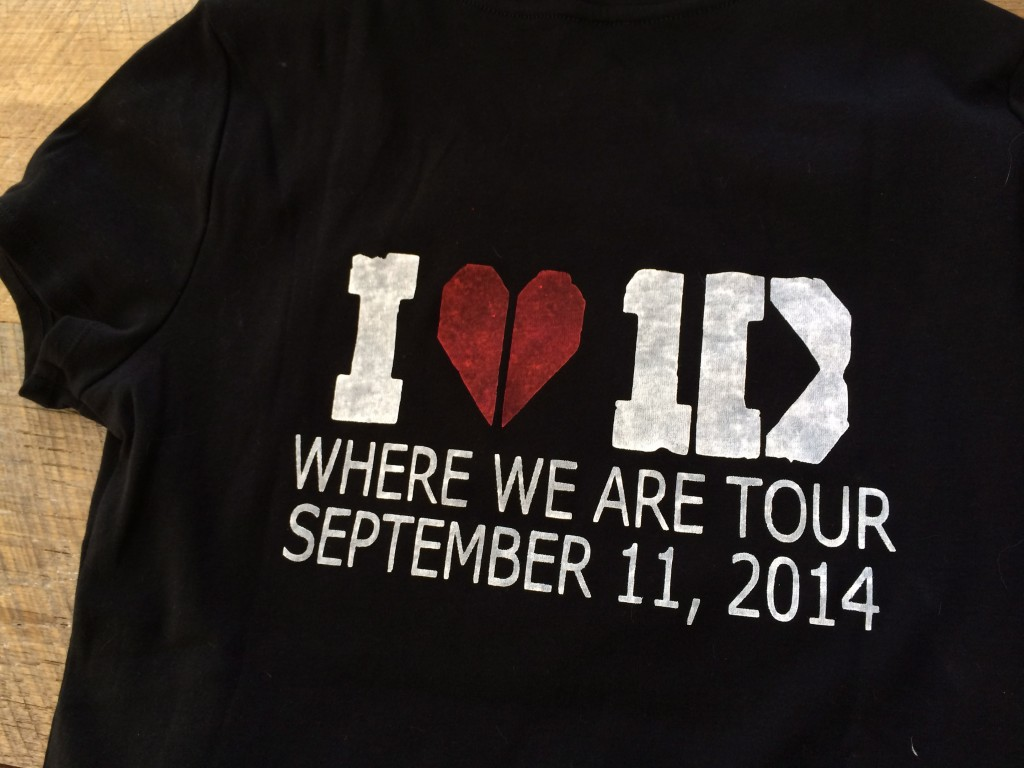 one direction concert t-shirt diy