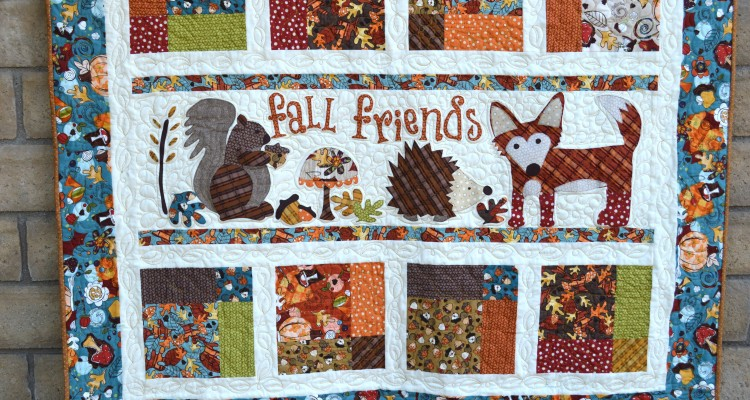 Fall Friends Applique Quilt – Blogger's Quilt Festival Entry