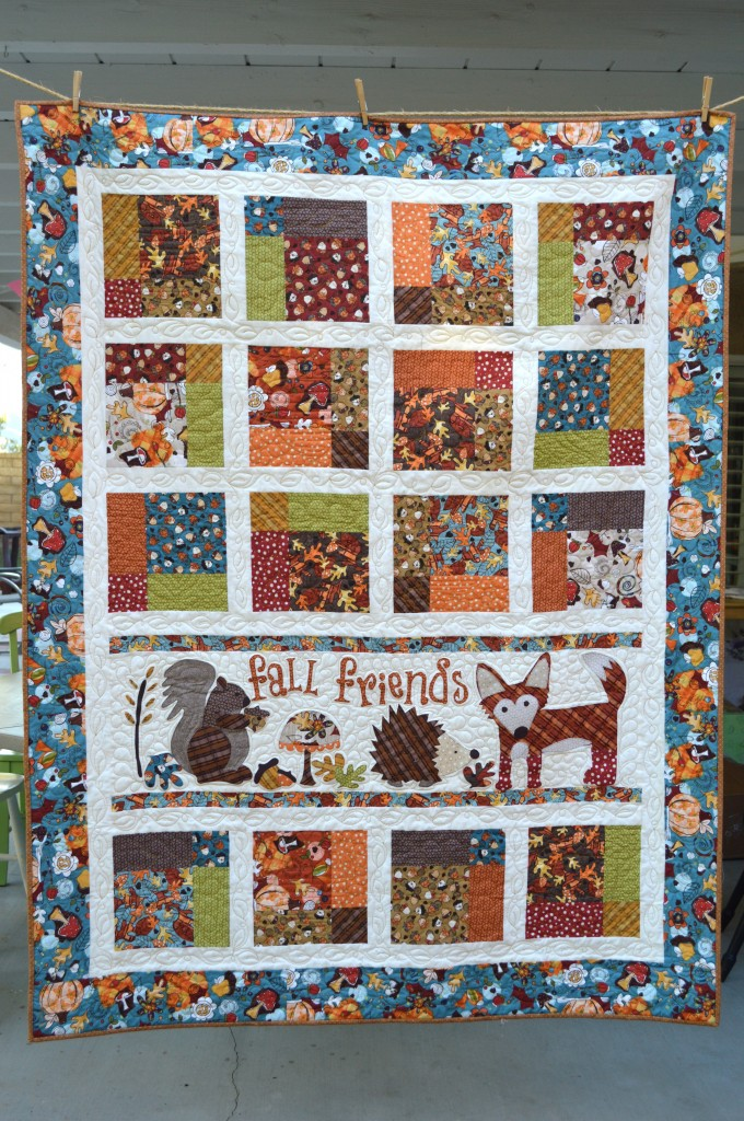 Fall Friends Applique Quilt_3