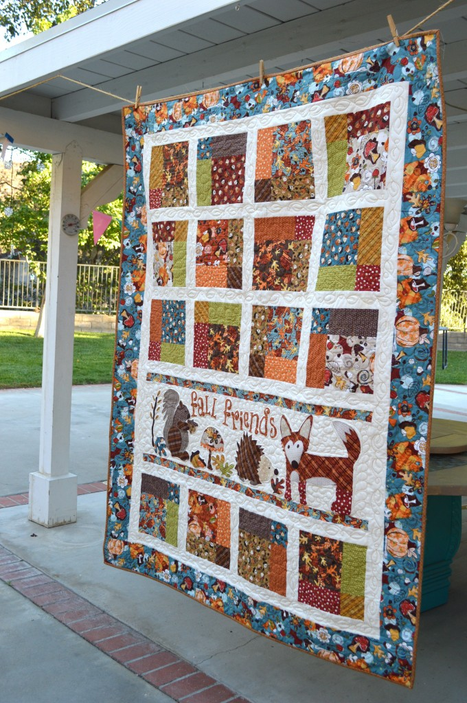 Fall Friends Applique Quilt_4