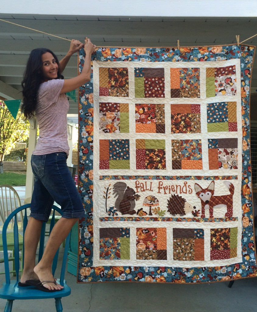 Fall Friends Applique Quilt_5