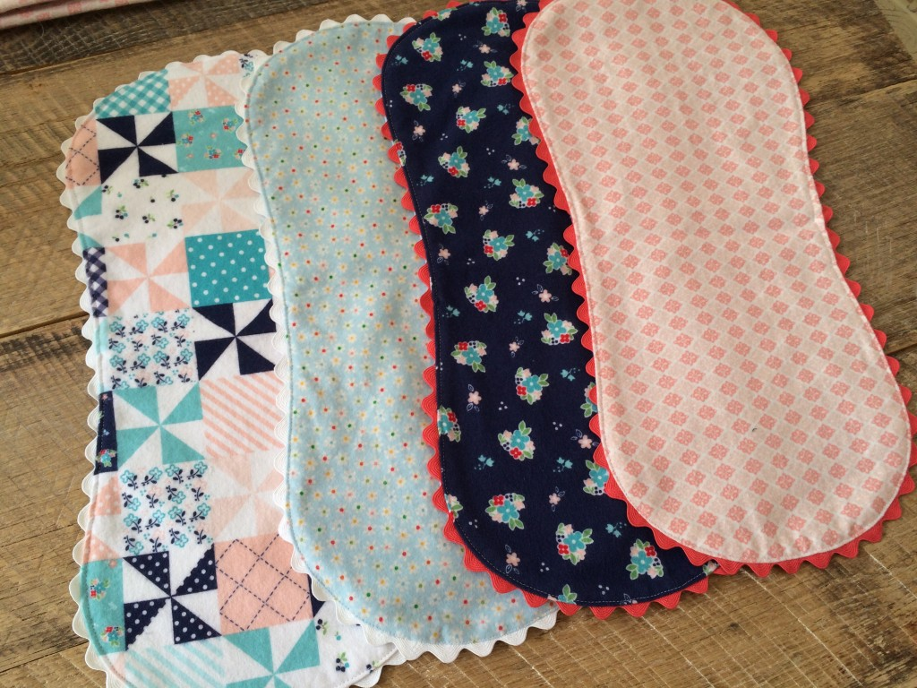 6e1e27894364e Riley Blake Flannel Baby Quilt and Burpers Tutorial