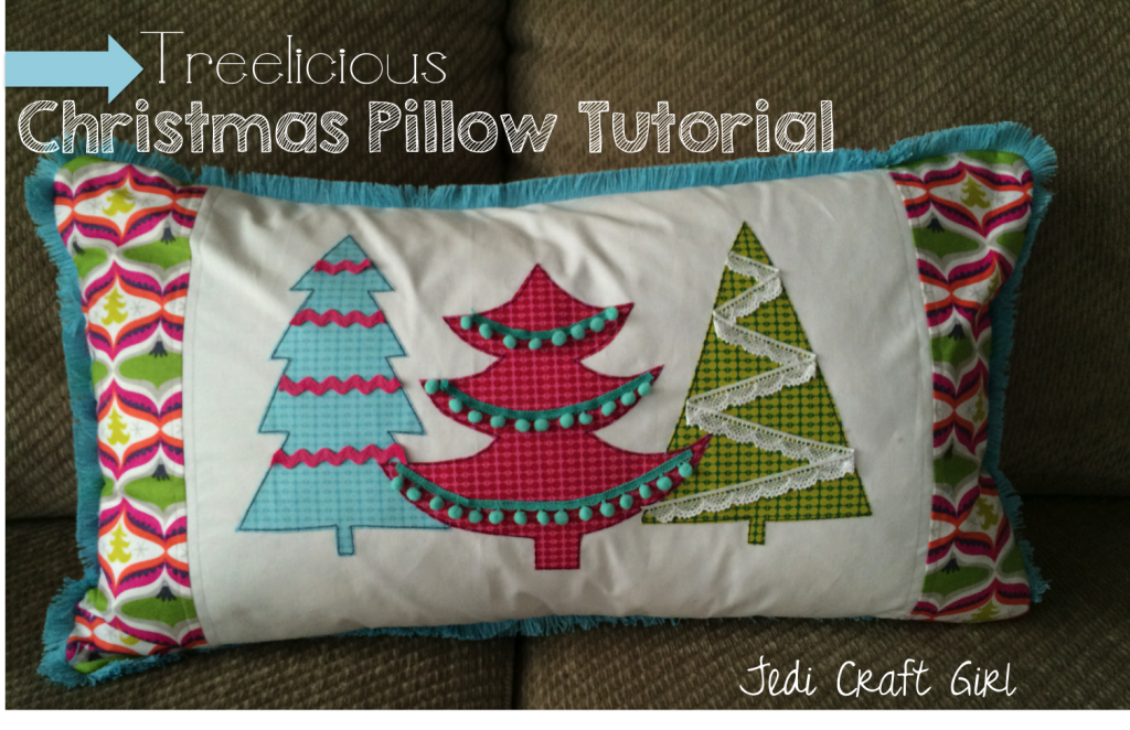 christmas applique pillow tutorial