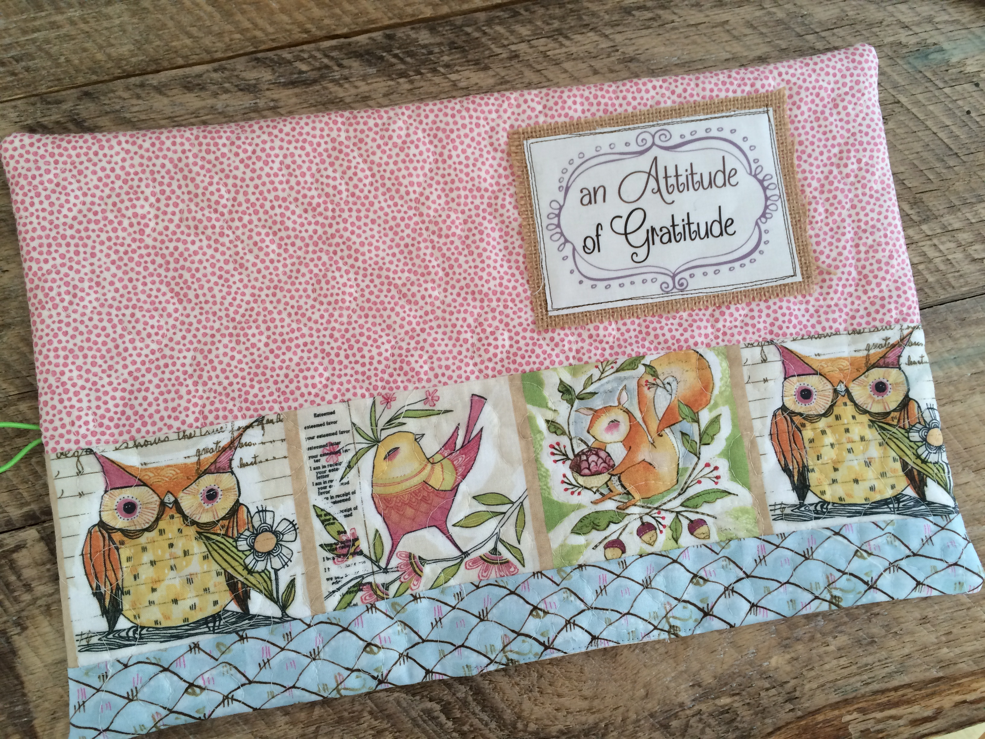 How To Make A Quilted Book Cover : An attitude of gratitude quilted journals