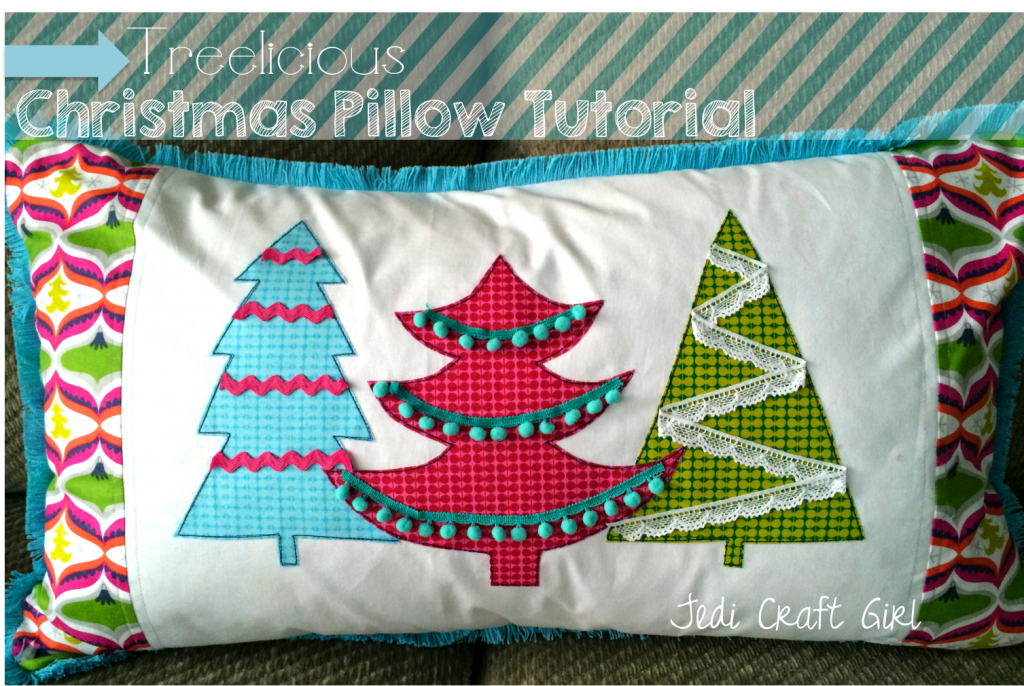 treelicious applique pillow tutorial