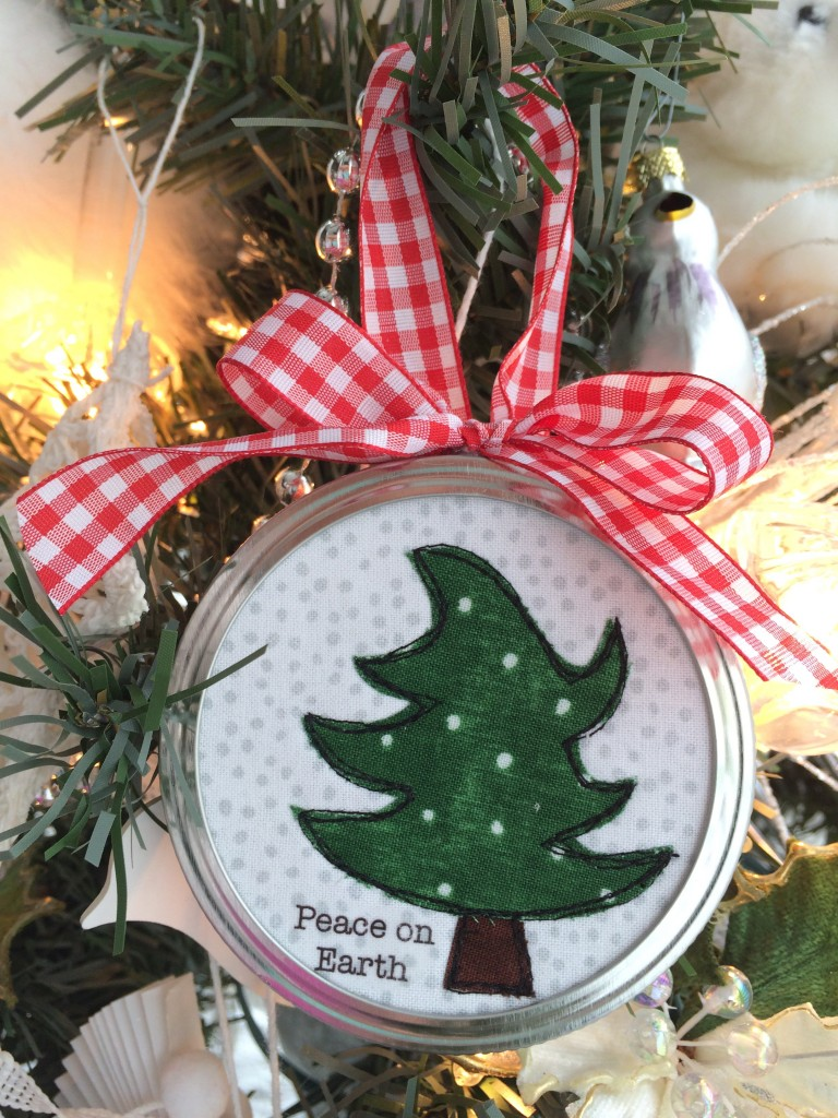 christmas tree applique ornament 7