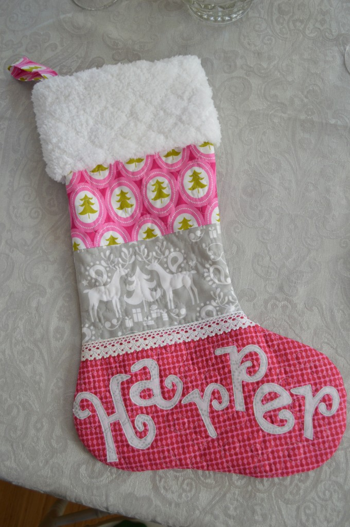quilted christmas stocking 1