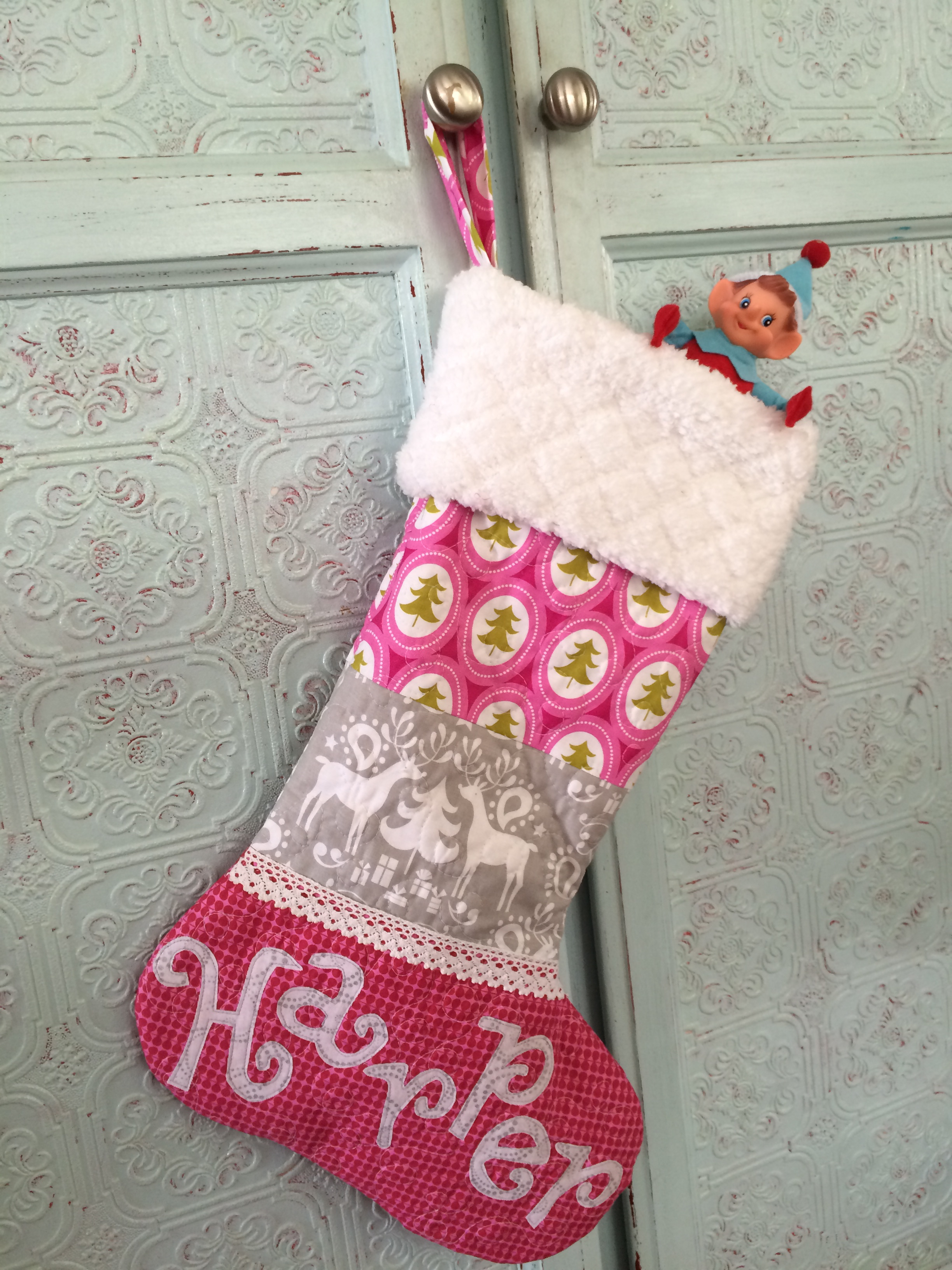 quilted christmas stocking 14