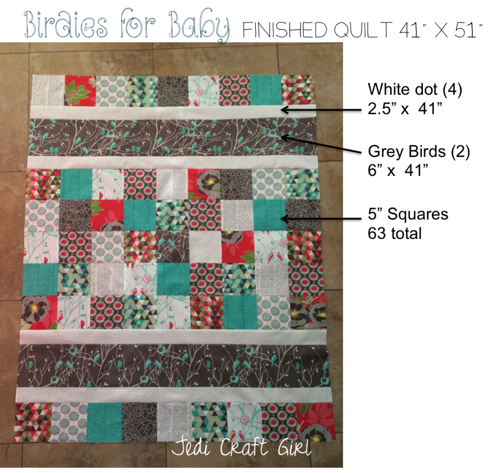 birdies for baby quilt pattern