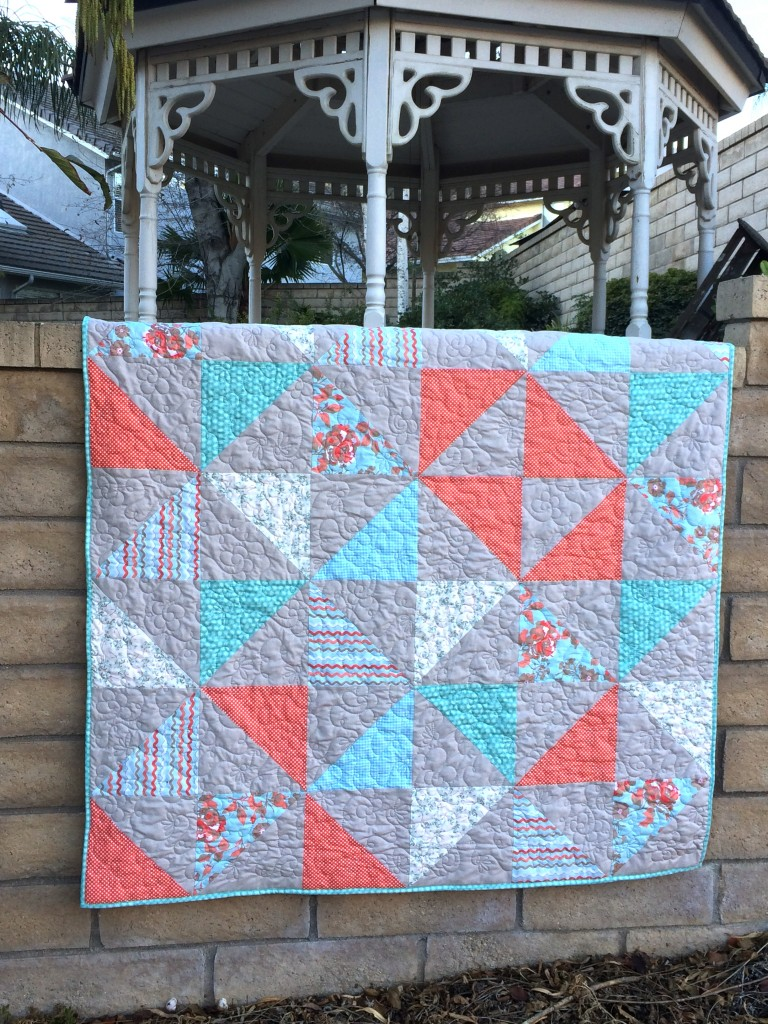 half square triangle quilt 3