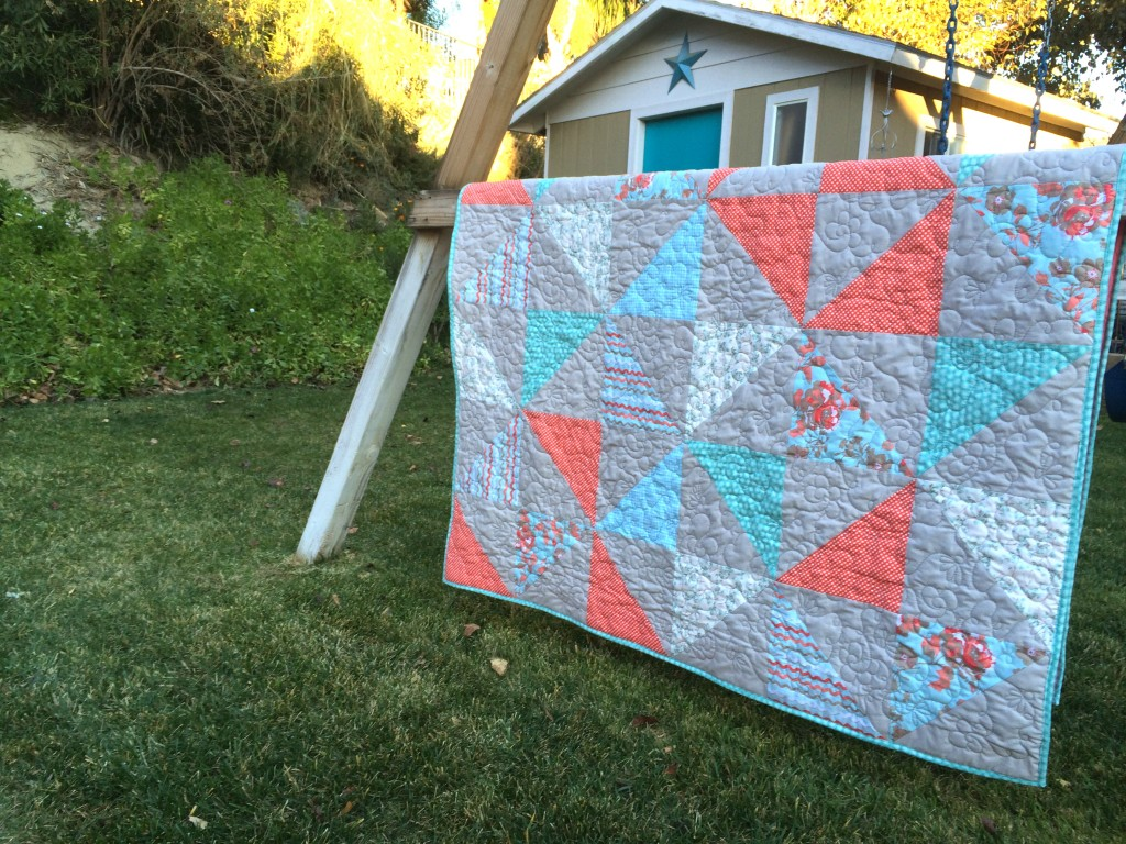 half square triangle quilt 5