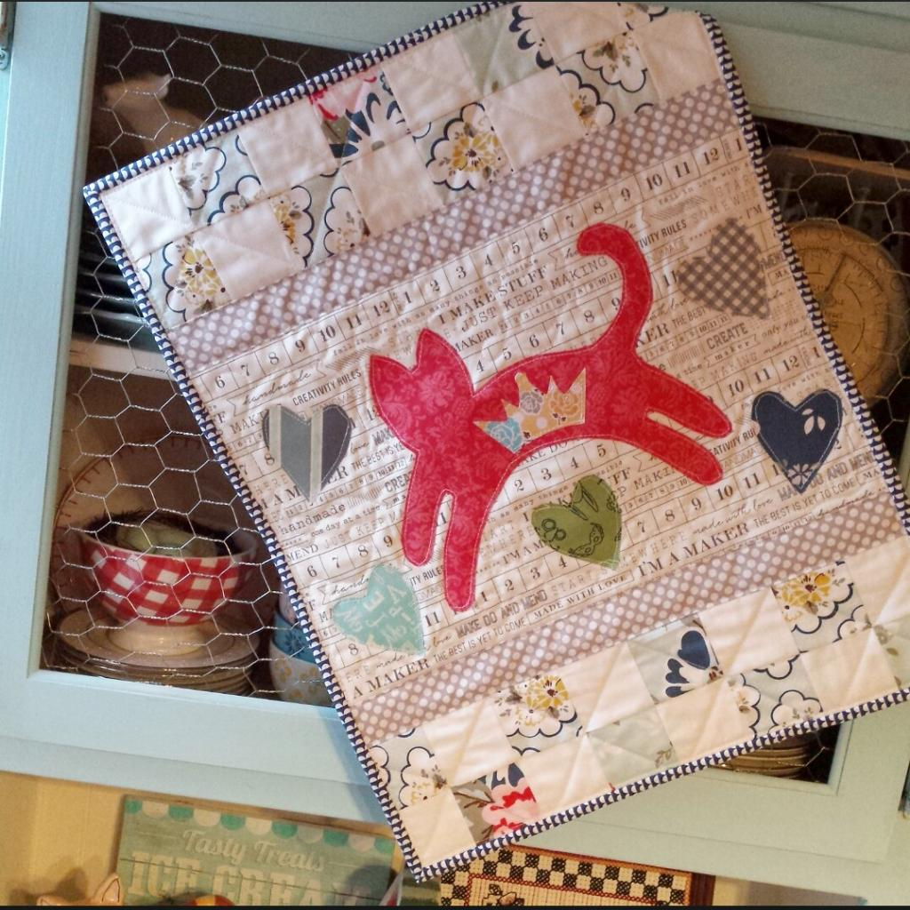 mini kitty quilt 2