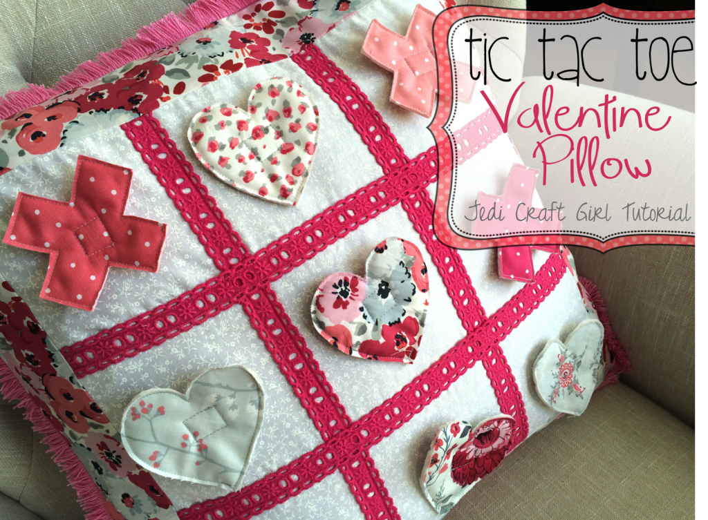 valentine pillow tic tac toe
