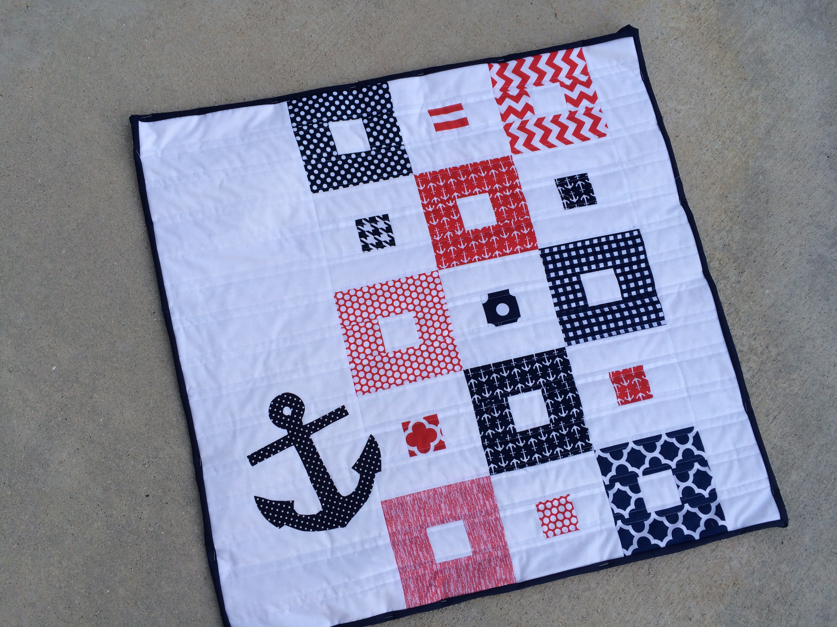 Nautical mini quilt pattern giveaway