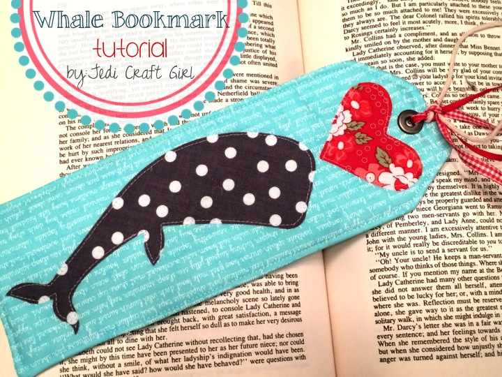 whale bookmark tutorial