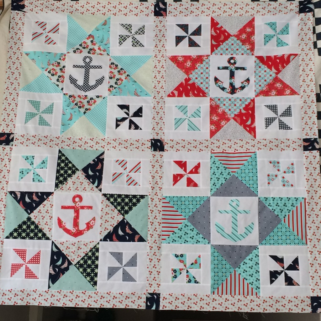 day sail nautical quilt