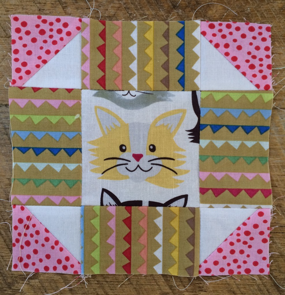 kitty quilter mini quilt 12