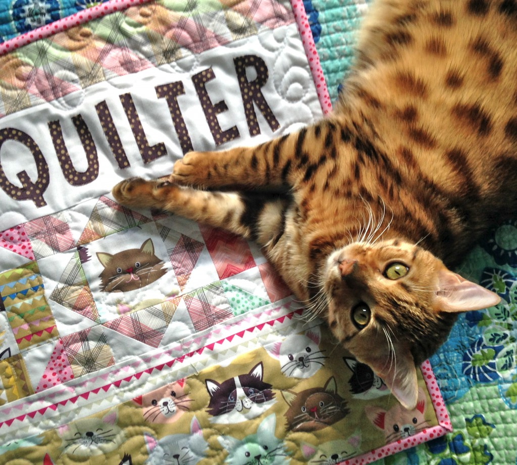 kitty quilter mini quilt 14