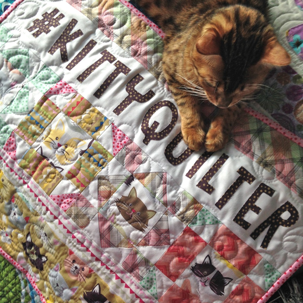 kitty quilter mini quilt 15