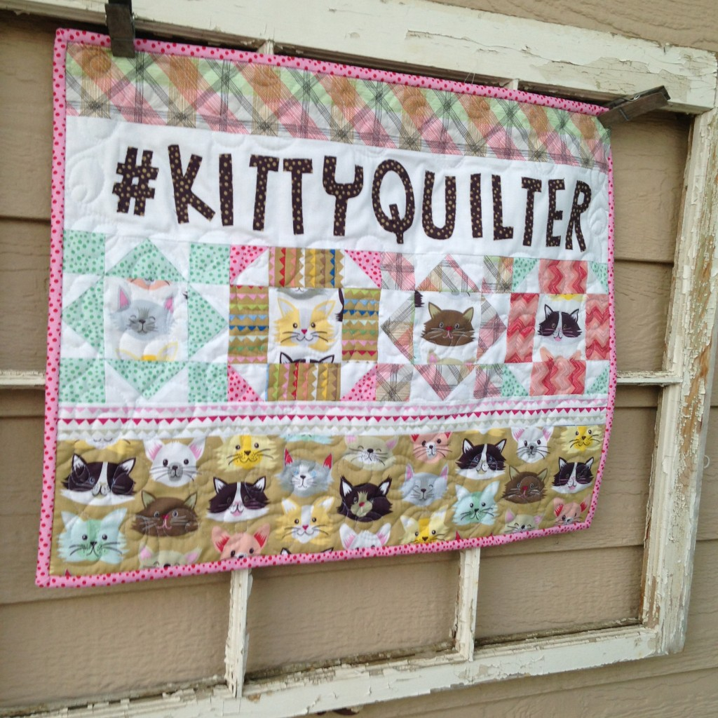 kitty quilter mini quilt 18