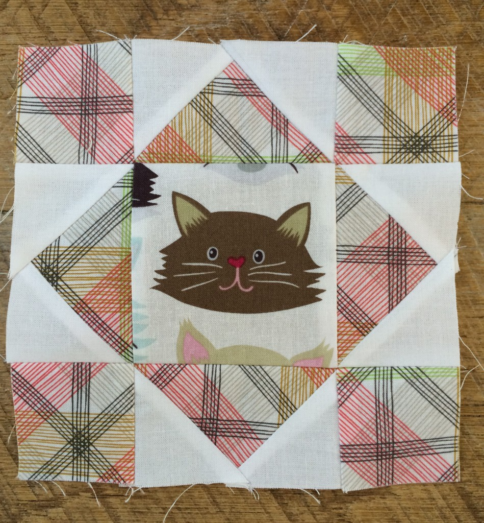 kitty quilter mini quilt 7
